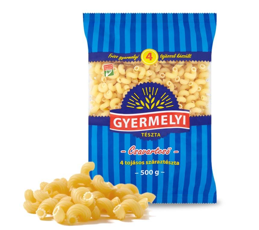 Paste macarone răsucite cu 4 ouă Gyermelyi